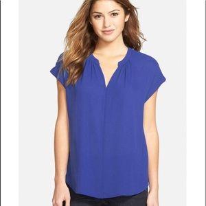 Pleione royal blue blouse sz small